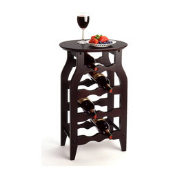 Winsomewood - Wine Rack 8-Bottle - This solid wood wine rack is perfect for use in any room. espresso finish combine with solid wood to bring function and style together in this small wine rack.