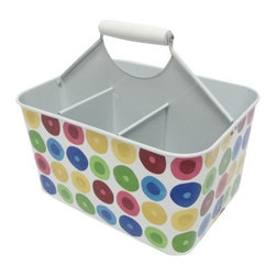 Multidot Metal Square Utensil Caddy - This is meant for utensils, but it could also be used to divide art supplies. Bonus: It's colorful and inexpensive.