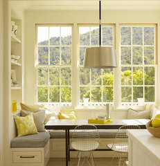 contemporary kitchen Bay window kitchen nook