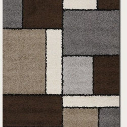 "Couristan - Moonwalk Stonewall Chocolate Rug - Experience out-of-this-world style, comfort and value with Couristan's Moonwalk Collection, a variety of shag area rugs designed to bring a plush sense of sophistication to today's casual contemporary interiors. Combining the traditional texture of a shag rug with a captivating array of visual prints, this creatively inspired collection showcases true personality and a unique design perspective ideal for decorators on the cutting edge of trends. Offering simple, serene motifs that range from an organic-inspired leaf pattern to a collage of structured geometric blocks, Moonwalk area rugs feature a fresh palette of modern neutrals like Navy, Grey, Cream, Chocolate and Black. Wilton woven of highly durable 100% Heat-Set Courtron polypropylene, the thick shag surface also features a hard-twisted yarn effect which adds a speckled texture to the pattern and helps to reduce tracking, shading and shedding. All of the outstanding benefits of the Moonwalk Collection - including the exquisitely detailed construction, the soft yet hard-wearing pile fiber and the distinctive style of each design are available at an incredible power-loomed price point that brings fashion to the forefront. Features: -Material: 100% Heat-Set Courtron Polypropylene Shag.-Face-to-face Wilton Woven.-Frieze Yarns Reduce Tracking and Shading.-Thick Surface Features Soothing Contemporary Motifs.-Construction: Machine made.-Primary Color: Chocolate.-Secondary Colors: Ash, Ash Grey, Black, Sand & White.-Collection: Moonwalk.-Distressed: No.-Collection: Moonwalk.-Country of Manufacture: Belgium.-Construction: Machine Made.-Technique: Power Loomed.-Primary Color: Chocolate.-Border Material: 100% Heat-Set Courtron Polypropylene Shag.-Border Color: Chocolate.-Material: 100% Heat-Set Courtron Polypropylene Shag.-Fringe: No.-Reversible: No.-Rug Pad Needed: Yes.-Water Repellent: No.-Mildew Resistant: No.-Stain Resistant: No.-Fade Resistant: No.-Swatch Available: No.-Eco-Friendly: No.-Outdoor Use: No.-Product Care: Vacuum frequently. Have professionally cleaned when needed..Specifications: -CRI certified: No.-Goodweave certified: No.Dimensions: -Overall Product Weight (Rug Size: 1'8"" x 3'7""): 5 lbs.-Overall Product Weight (Rug Size: 3'11"" x 5'7""): 12 lbs.-Overall Product Weight (Rug Size: 5'3"" x 7'6""): 22 lbs.-Overall Product Weight (Rug Size: 7'10"" x 10'10""): 44 lbs.-Overall Product Weight (Rug Size: 9'2"" x 12'5""): 64 lbs.-Overall Product Weight (Rug Size: Runner 2'7"" x 7'10""): 12 lbs.-Pile Height: 0.83"".Warranty: -Product Warranty: 1 year limited warranty."