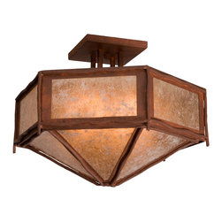 Steel Partners Inc - Hexagon Drop Ceiling Mount, Sticks - Every piece we create is unique — handcrafted at our factory in Chehalis, Washington, USA. Due to this, lead times are 2 to 4 weeks.