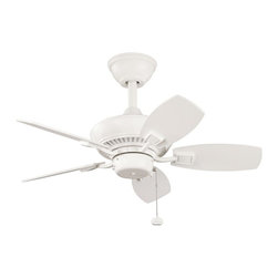 Joshua Marshal - Satin Natural White Outdoor Fan - Satin Natural White Outdoor Fan