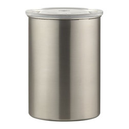 Airscape Coffee Canister - This sleek, stainless steel coffee canister keeps air out for fresher coffee.