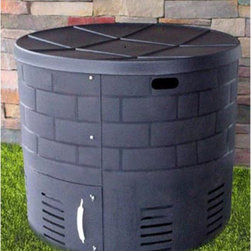 Covered Bridge Organic - Covered Bridge Organic Wishing Well Composter Multicolor - CBO-WISHINGWELL-COMPO - Shop for Landscaping Supplies from Hayneedle.com! The Covered Bridge Organic Wishing Well Composter was designed by a certified organic grower and that makes a difference. It's ideal for the eco-savvy gardener who values organic composting and returning nutrients to the soil. Extra-large capacity holds 130 gallons (or 18 cubic feet). That means it's big enough for hot composting of yard trimmings and kitchen greens. It even looks great with an attractive brick pattern/embossed design and bottom access gate. And because it's only 30 inches high kids can learn and help compost too. This item features a wide open top with thermo-formed lid. Handholds around the top make it easy to move. Not surprisingly the Wishing Well Composter is made of recycled materials. Dimensions: 36L x 36W x 30H inches. Note: Free while supplies last a Reotemp 20-inch stainless steel compost thermometer - a $40 value!About Covered Bridge Organic Inc.Located in Jefferson Ohio Covered Bridge Organic prides itself on the tradition of returning nutrients to the soil - and making it easy for you to do it. From leaf bag holders to composters and mulch bins Covered Bridge offers innovative products to make your eco-friendly life a breeze.