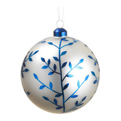 Silk Plants Direct - Silk Plants Direct Glass Ball Ornament (Pack of 6) - Blue White - Pack of 6. Silk Plants Direct specializes in manufacturing, design and supply of the most life-like, premium quality artificial plants, trees, flowers, arrangements, topiaries and containers for home, office and commercial use. Our Glass Ball Ornament includes the following: