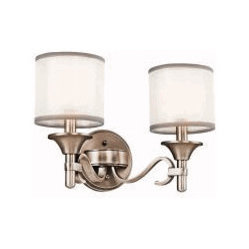 Kichler Lighting Lacey Bath 2 Light Antique Pewter 45282AP