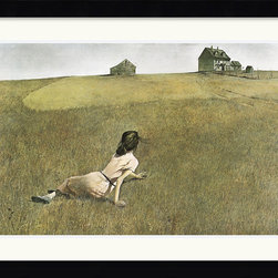 None - Andrew Wyeth 'Christina's World' Framed Art Print - Own a fine reproduction of one of the worlds most famous paintings. This framed art print of Andrew Wyeths Christinas World will grace your living area and provide a talking point for guests interested in the genre of magic realism.