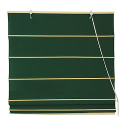 Oriental Furniture - Cotton Roman Shades - Dark Green 72 Inch, Width - 72 Inches - - These Dark Green colored Roman Shades combine the beauty of fabric with the ease and practicality of traditional blinds.  They are made of 100% cotton and are available in seven other stylish colors.   Easy to hang, easy to open and close.  Also available in Cream, Yellow Cream, Light Green, Light Brown, Black, Red or Pink.  Available in five practical sizes, 24W, 36W, 48W, 60W and 72W.  All sizes measure 72 Tall. Oriental Furniture - WT-YJ1-8F-72W