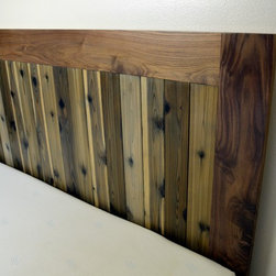 Reclaimed / Walnut Platform Bed- Headboard Only -