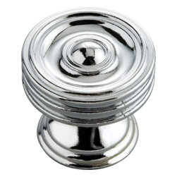 Hickory Hardware - Concord Chrome Cabinet Knob - Classic lines, finishes and styles create a warm and comforting feel. Usually 18th-century English, 19th-century neoclassic, French country and British Colonial revival. Use of classic styling and symmetry creates a calm orderly look.