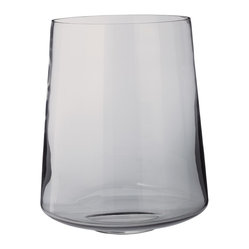 Lazy Susan - Smoky Well Vase-Large - Show off your fresh cut flowers. With just a hint of smoky color, this glass vase will display your bouquet in its full glory. Grab a generous bunch from the garden, this wide-mouth container can handle it all.