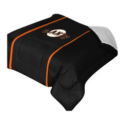 "Zappysales - San Francisco Giants Sidelines Comforter Queen - Comforter Full/Queen 86"" x 86"". Covers are 100% Polyester Jersey top and bottom side, filled with 100% Polyester Batting. Logos are screenprinted. Machine washable in warm water, and tumble dry on low heat."