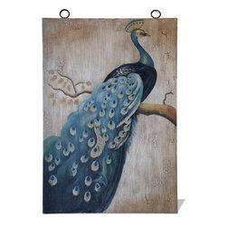 Peacock Art Panel, Peacock Mural - Peacock Art Panel, Peacock Mural