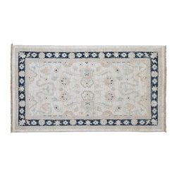 Oriental Rug, Stone Wash Ziegler Mahal 3'X5' 100% Wool Hand Knotted Rug SH9102 - Hand Knotted Oushak & Peshawar Rugs are highly demanded by interior designers.  They are known for their soft & subtle appearance.  They are composed of 100% hand spun wool as well as natural & vegetable dyes. The whole color concept of these rugs is earth tones.