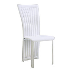 Global Furniture - Leatherette Dining Chair in White (Set of 2) - D1513DC-WH - Covered in a white leatherette