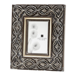 "Lazy Susan - Hand Carved Ornate Frame, 4 X 6 - -Use 4""X 6"" Photo"