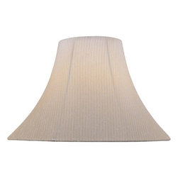 Lite Source - Light Beige Bell Shade - 7in.Tx18in.Bx12.50in.Sl - Light Beige Bell Shade - 7 in. Tx18 in. Bx12.50 in. Sl