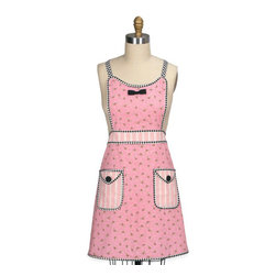 Rose Floral Apron - This cute rose print apron reminds me of something from the '50s. I love it!