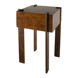 Patagonia Legacy - Bloque Side Table EU891 - This side table comes in Nogal Antique finish.