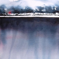 Moutain Lake - Original Watercolor Painting - A little lake up in the mountains near Santa Fe.