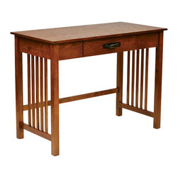 Office Star - Office Star Sierra Writing Desk in Ash - Office Star - Writing Desks - SRA25AH - Work on your reports or files on this spacious office star desk. The simple yet stylish style can fit into almost any office environment. OSP Designs Sierra Writing Desk (Ash Finish)