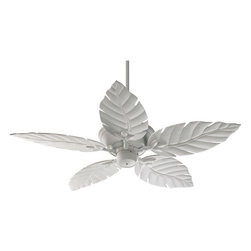 "Quorum International - Quorum International 135525-8 Studio White Monaco Patio Tropical / - Q135525 Features:  Lifetime motor warranty ABS blades (plastic) Includes 80"" of lead wire Includes 3.5"" and 6"" downrod 188 x 15 motor size 3 Speeds Remote control adaptable Detachable switch cup UL Wet Rated Old World Comes With Walnut Blades, Studio White Comes With Studio White Blades, Toasted Sienna Comes With Rosewood Blades, Satin Nickel Comes With Maple Blades  Q135525 Specifications:  Number of blades: 5 Blade span: 52"" Blade pitch: 14 degrees Airflow: 5055 CFM"