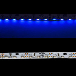 EnvironmentalLights - Blue 3014 Side View LED Strip Light 96/m 8mm wide Foot - Sold by the 5 meter reel, foot and sample kit.