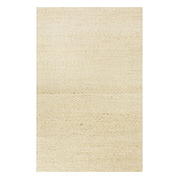 Jaipur Rugs - Jaipur Rugs Naturals Solid Pattern Jute/Cotton Taupe/Gray Area Rug, 8 x 10ft - The Andes collection is hand-woven with jute and recycled Chindi cotton fabric for touches of both color and a softer feel. Eco friendly and durable, these rugs fit in a variety of homes.