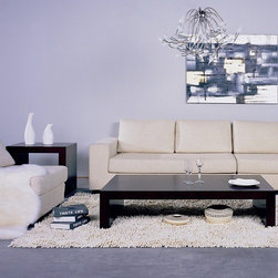 """Hokku Designs - Recluse Coffee Table Set - Features: > -Wenge finish. -Construction: Wood veneer on medium density fiberboard. -Continuous """"C"""" shape construction. -Thick frame for dramatic effect. -Modern companion to any living area. -Manufacturer provides one year warranty."""