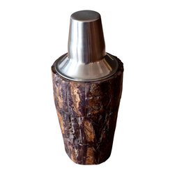 BoBo's Intriguing Objects - Bark Cocktail Shaker - If Paul Bunyan had the other lumberjacks over for drinks, you know he'd be mixing them up in a shaker like this. Add the handsome, unique piece to your barware and you're on your way to legendary mixology skills.