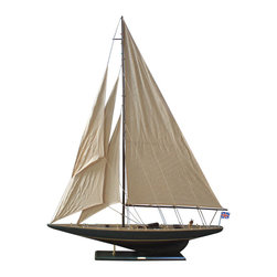 "Handcrafted Model Ships - Rustic Endeavour 60"" - Vintage Wood Sailboat - Not a model ship kit"