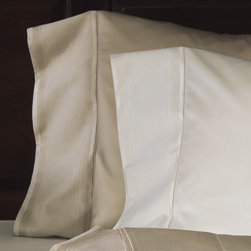 "Frontgate - Trentino Pillowcase - 100% cotton sateen woven in Italy. 600-thread count. Choose from several soft, warm colors. Standard: 20"" x 27"" +5"" overhang. King: 21"" x 37"" +5"" overhang.. Machine Washable. Inspired by the stunning Italian province renowned for towering mountains, alpine valleys, and pristine glaciers, our Trentino Sateen Bedding Collection embodies serenity with its nature-inspired design. The signature color - yarn-dyed Fern - features mossy leaves atop an earthy backdrop.  .  .  . .  . Because this bedding is specially made to order, please allow 4-6 weeks for delivery.. Made in USA of imported goods. Part of the Trentino Sateen Bedding Collection."