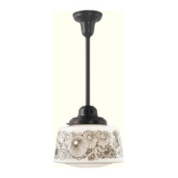 "Willamette 6"" Pendant - I love this fixture for a child's bathroom or you can easily change out the shade for a less whimsical pattern."