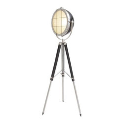 BZBZ46699 - Silver and Black Colored Metal Wood Foldable Spot Light - Silver and Black Colored Metal Wood Foldable Spot Light. Some assembly may be required.