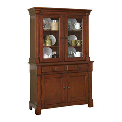 Home Styles - Home Styles Aspen Buffet and Hutch in Rustic Cherry - Home Styles - Buffet Tables and Sideboards - 5520617