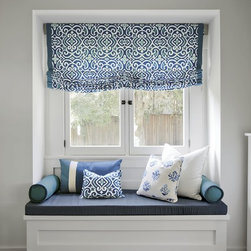 Smith and Noble Relaxed Roman Fabric Shades - Fabric Shades make for endless possibilities, like fabric Roman shades for an exotic look, or London fabric window shades for a touch of class. Starting at $131+