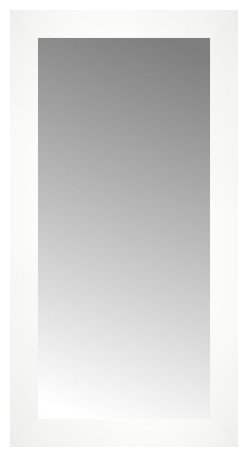 """Posters 2 Prints, LLC - 14"""" x 26"""" White Wide Cube Custom Framed Mirror - 14"""" x 26"""" Custom Framed Mirror made by Posters 2 Prints. Standard glass with unrivaled selection of crafted mirror frames.  Protected with category II safety backing to keep glass fragments together should the mirror be accidentally broken.  Safe arrival guaranteed.  Made in the United States of America"""
