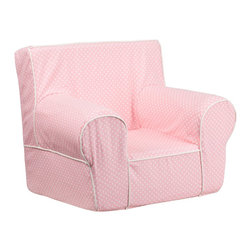 Flash Furniture - Flash Furniture Children's Chairs Kids Small Chairs X-GG-KP-TOD-DIK-HC-GD - This comfy foam chair is a fun piece of furniture for children to enjoy for reading and relaxing. The lightweight design with carrying handle will allow this chair to be toted in several locations. The slipcover can be removed for cleaning or spot cleaned upon accidents. [DG-CH-KID-DOT-PK-GG]