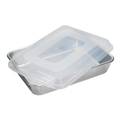 "Nordic Ware - Nordic Ware 9 x 13 Cake Pan with Lid (4 Pack) (46603) - Nordic Ware 46603 9"" X 13"" Cake Pan with Lid (4 Pack)"