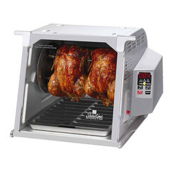 RONCO - Ronco Showtime Platinum Edition Digital Rotisserie and BBQ - The Ronco Showtime Platinum Edition Rotisserie and BBQ features an elegant,easy to clean,non-stick surface that wipes clean with a damp cloth in seconds. Built-in digital timer ensures the perfect cooking times,every time.