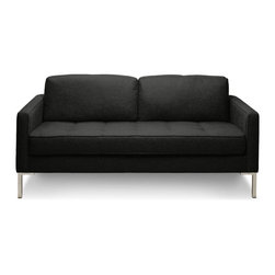"Blu Dot - ""Blu Dot Paramount Studio Sofa, Graphite"" - ""As comfortable as your favorite jeans. As versatile as a little black dress. This classic sofa can go anywhere in style but don't be surprised if it steals the limelight in its own quiet way. Available in ash, ceramic, graphite, lead, oatmeal, smoke or stone. """