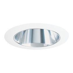 Juno Lighting Group - Adjustable Cone Downlight for Low Voltage Recessed Housing - 447PT-SC - This adjustable cone downlight features a pewter Alzak� finish and white trim ring. It measures 5 inches wide with a 3-3/8-inch aperture and adjusts 35 degrees vertically. Takes (1) 50-watt halogen MR-16 bulb(s). Bulb(s) sold separately. Dry location rated.