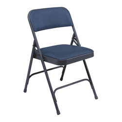 National Public Seating - National Public Seating 1200 Series Vinyl Upholstered Premium Folding Chair - Unlike many of the upholstered folding chairs on the market, the seat and back of the 1200 Series folding chair is entirely upholstered. The rugged design ensures durability and the vinyl holds up and is easy to clean. Implementing a chair truck makes groups of these chairs easily portable.