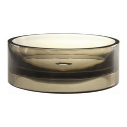 Decolav - Incandescence Round Above Counter Resin Sink - Manufacturer SKU: 2806-SHA. Crafted from a unique resin material that is durable and easy to clean. Round with flat bottom and perpendicular walls. Designed for above-counter use. No overflow. Pair with Decolav umbrella drain - not included. 15.75 in. L x 15.75 in. W x 5.68 in. H. Installation Instructions. Cutout TemplateDECOLAV's Incandescence Round Above Counter Resin Lavatory shows off the depth and tones of the sink colors. Unique to this lavatory is its ability to be used as both an above counter vessel or semi-recessed lavatory. Skillfully cast of resin, this lavatory is not only durable, but extremely easy to care for.