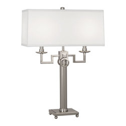 Robert Abbey - Robert Abbey Mary McDonald Baudelaire Table Lamp S2585 - Polished Nickel