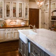 Traditional Kitchen by Dean J. Birinyi Photography