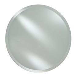 Afina - Radiance Frameless Round Vanity / Wall Mirror - RM-418 - Shop for Bathroom Mirrors from Hayneedle.com! The Radiance Frameless Round Vanity / Wall Mirror is the perfect way to offer space and depth to any bathroom bedroom foyer or hallway. Its clean contemporary look features a frameless beveled edge design that is offered in 18 or 24-inch sizes. Hang on any wall with the included hanging hardware.Mirror Dimension options:18-inch diameter24-inch diameterAbout AfinaAfina Corporation is a manufacturer and importer of fine bath cabinetry lighting fixtures and decorative wall mirrors. Afina products are available in an extensive palette of colors and decorative styles to reflect the trends of a new millennium. Based in Paterson N.J. Afina is committed to providing fine products that will be an integral part of your unique bath environment.