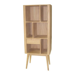 Sterling Industries - Retro Bookcase With 1 Drawer - Retro Bookcase with 1 Drawer