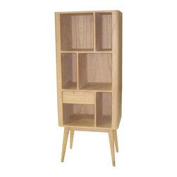 Joshua Marshal - Retro Bookcase With 1 Drawer - Retro Bookcase with 1 Drawer