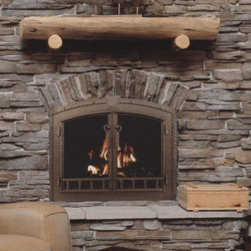 Fireplace Glass Doors - Glass doors provide safety. Doors keep small children and pets away from the fire. They also keep a smoldering fire safely contained when you go to bed for the night.
